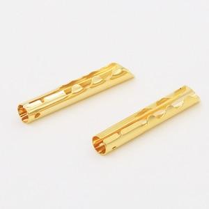 Image 3 - 12 sztuk VB432G złota miedzi Audio BFA typu Z 4mm wtyk bananowy kabel głośnikowy złącze