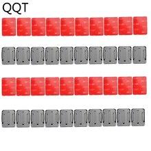 QQT 40 teile/satz 20 pcs Gebogene Oberfläche Montieren Basis + 20 pcs 3 M Klebstoff Für Gopro Hero 6 5 4 3 + für Xiaomi Yi für SJ4000 GT14 3