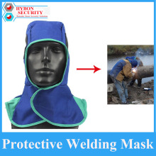 Safety Welding Cap Anti-dust Mask Welding Helmet Fire Fetardant Flame Hat Face Neck Head Mask rescue shield mask with keys chain