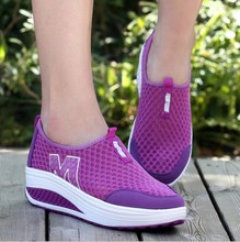 Top Quality Women Fashion Casual Shoes Slimming Shoes Women Fitness Lady Swing Shoes Summer Factory Shoes