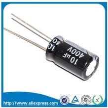 20 قطعة 10 فائق التوهج 400 فولت 400 فولت 10 فائق التوهج الألومنيوم مُكثَّف كهربائيًا 400 فولت/10 فائق التوهج مقاس 10*16 مللي متر مُكثَّف كهربائيًا