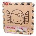 Meitoku детские игры пены EVA головоломки мат/Мультфильм EVA пены pad/Блокировки Коврики для kids30X30cm 1 см Толщиной 9 шт./компл.