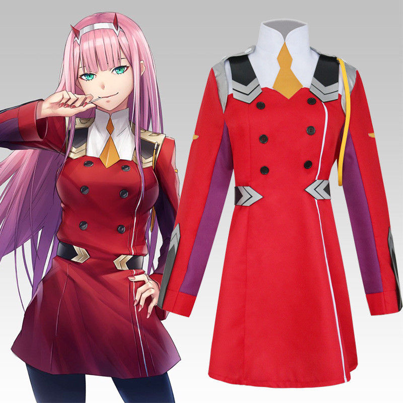 Darling in the Frankxx 02 Zero Two Jacket Cosplay Coat Costume Fancy Dress Anime Outfit Uniform