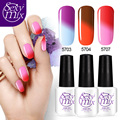 Sexy Mix 3 Pieces Soak off Nail Gel Polish Winter Hot Temperature Color Changing UV Gel Nail Polish Long Lasting UV Gel Polish