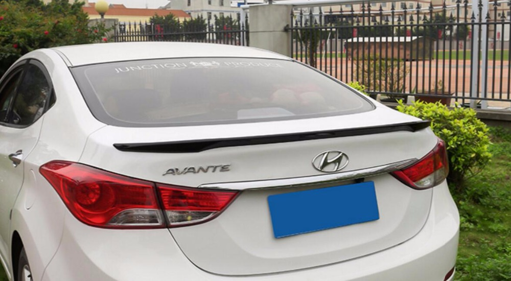 WOOBEST ABS Rear Wing Rear Trunk Rear Spoiler for hyundai elantra, new design top quality unpainted g30 v style abs unpainted primer rear trunk lip spoiler wing for bmw 530i 540i g30 2017up