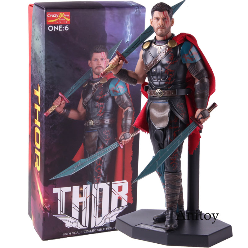 Crazy Toys Thor Ragnarok Gladiator Deluxe Version ONE 6 1 6 Scale PVC Figure Collectible Model
