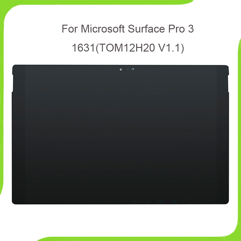 New LCD Assembly for Microsoft Surface Pro 3 LCD Screen Touch Digitizer Display Pro3 (1631) Panel TOM12H20 V1.1 LTL120QL01 003 fghgf shoes men s slippers kma