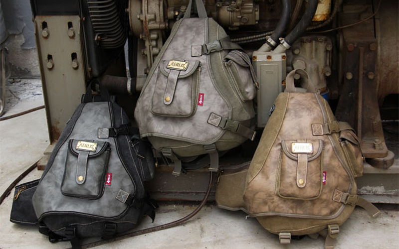 f6ec9f8343 Cool sling messenger bags with many pockets Durable big canvas leather  chest packs for men 6215 Free shipping-in Crossbody Bags from Luggage   Bags  on ...