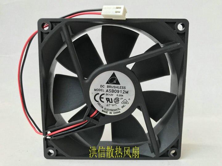 Delta Electronics ASB0912M Server Square Fan DC 12V 0.20A 92x92x25mm 2-wire