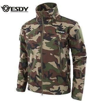 Gran oferta, chaqueta militar de camuflaje SoftShell de piel de tiburón táctica, ropa impermeable al aire libre para acampar, abrigo de entrenamiento deportivo