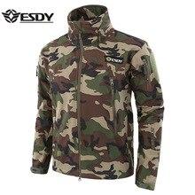 Лидер продаж Тактический Акула кожи SoftShell Камуфляж Военная Униформа куртка на открытом воздухе кемпинг водостойкая одежда спортивн