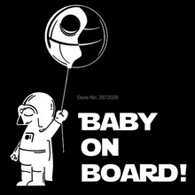 Automotive Styling Star Wars Cartoon Astronaut Child on Board Inventive Auto Decal Automotive Bumper Physique Decal Sticker Sample Vinyl