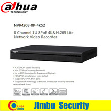 Dahua H.265 4K POE NVR network NVR4208-8P-4KS2 8Poe port 8ch Up to 8MP Resolution for Preview and Playback cctv security system