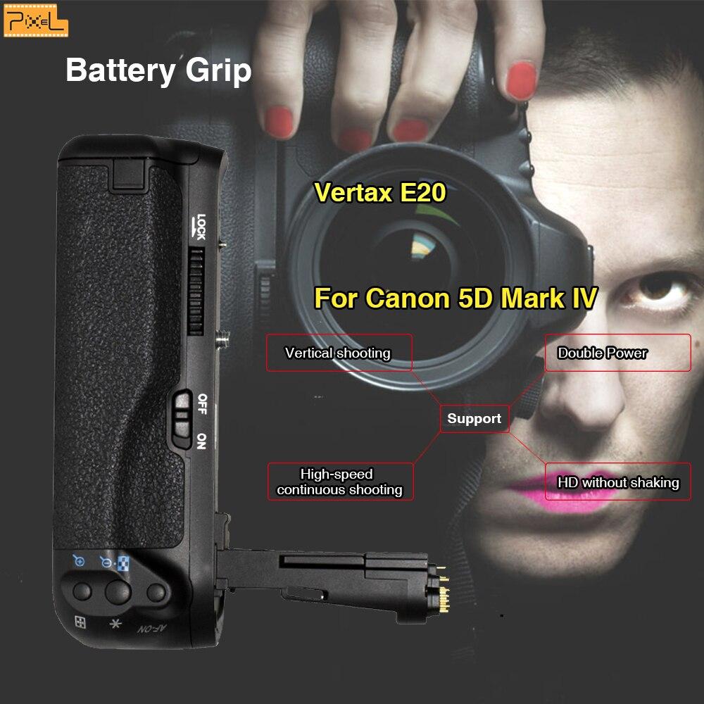 Pixel E20 Batterie Grip Vertical tir Double Puissance Pour Canon 5D Mark IV 5DIV Caméra poignée Macro poignée Caméra batterie clip