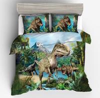3D Dinosaur Bedding Sets 2/3pcs Single Double Queen King Duvet Cover Set Bedclothes Bed Linen (No Sheet No Filling)