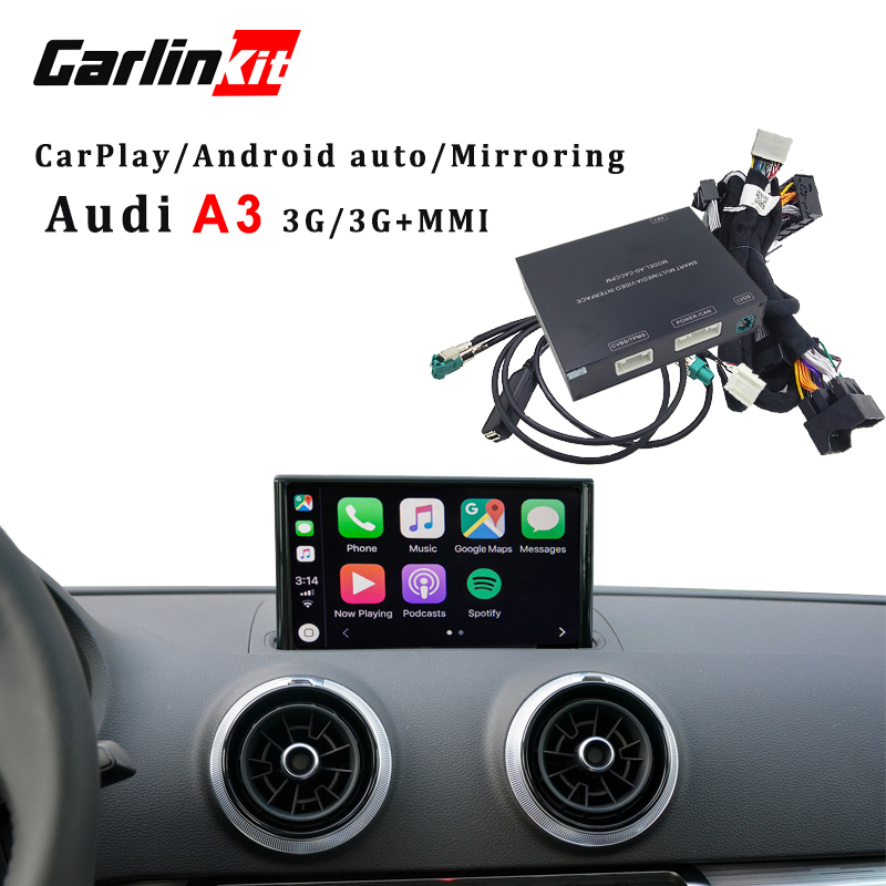 Carlinkit Apple CarPlay interface pour Audi A3 MMI usine mise à niveau de L'écran avec iOS12 AirPlay écran Miroir