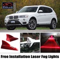 For BMW X1 E84 F48 / X3 E83 F25 / X4 F26 / Free Installation Solar Energy Shark Fin Laser Fog Lights Multiple Mode Warning Lamp