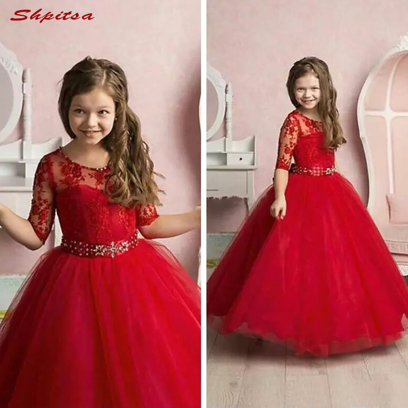 Red Lace   Flower     Girl     Dresses   Flowergirls   Girls   Pageant   Dress   for Little   Girls   Glitz Holy First Communion   Dresses   for   Girls   Gowns
