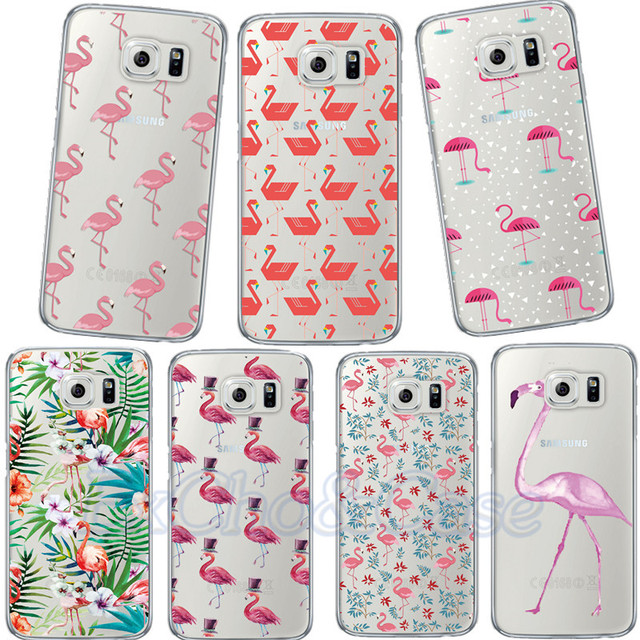 huge selection of 4448f 07661 US $3.99  New Models Transparent Decorative Luxury Flowers Flamingos Phone  Case for Samsung Galaxy S5 S6 S7 S8 Edge Soft Silicone Capa-in Fitted Cases  ...
