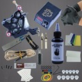 Starter Tattoo Black Machine Set Kits  Ink Pigment Sets Power Supply Needles Cheap Beginner Supplies Tattoo for Body