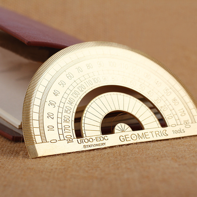 Copper Speed Protractor Miter Framing Line Scriber Saw Guide Measurement Meter Square Carpenter Ruler