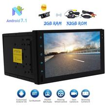 2 Din Car Stereo GPS Navigation Android 7.1 Touch Screen Autoradio Head Unit FM/AM RDS Radio Bluetooth WIFI OBD2 Wireless Camera