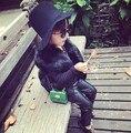 Madre y Los Niños de Imitación de Piel de Zorro Chaleco de los Bebés del Otoño Chaleco de Piel de invierno Caliente Gruesa Chaqueta Niños Ropa Gilet Enfant chalecos