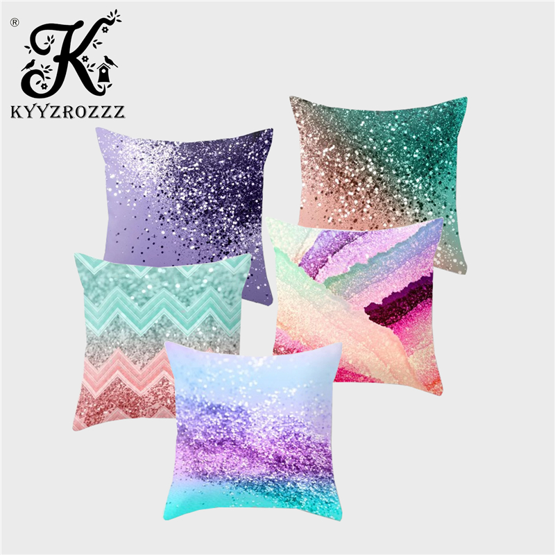Sequins change from Silver To White Unicorn Cushion Cover