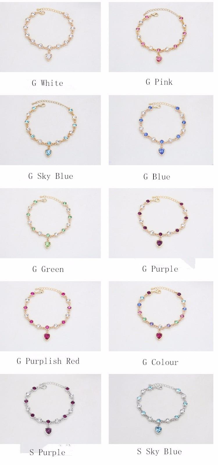 LYIYUNQ Fashion Bracelet Hot Wedding Female Heart Crystal Bracelets For Women Luxury Temperament Silver-Color Fine Jewelry Gift 15