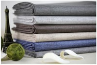 Solid Color Linen Fabrics Retro Breathable Patchwork Fabric For Sewing 100 Natural Cotton Linen Fabric For