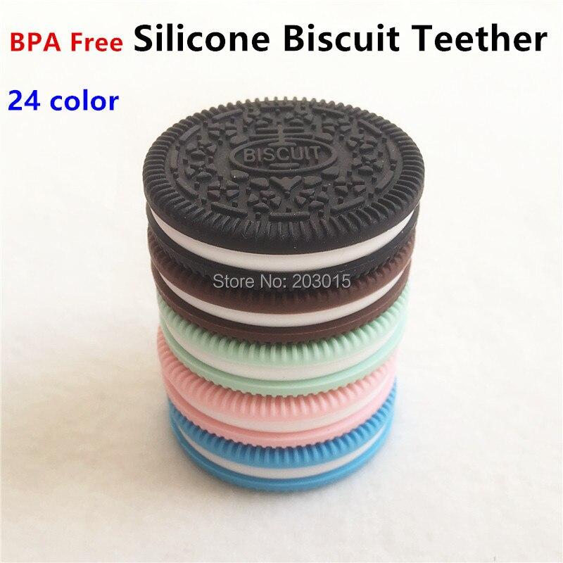 10 UNIDS BPA Libre de Silicona Galleta Colgante Mordedor Bebé - Alimentación