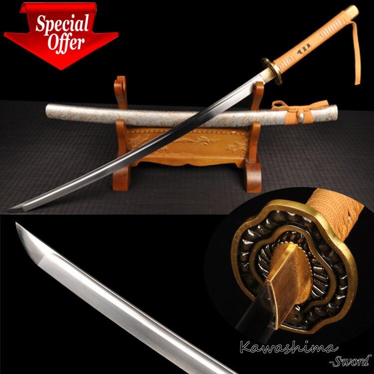 Японский самурайский меч, полностью Танг, ручная работа, катана, настоящая Высокоуглеродистая сталь, фильм, персонаж, резкость, готов к резк