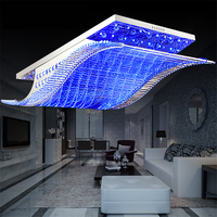 Remote Control 4Color Crystal Glass Metal Stainless Steel Modern Led Ceiling Lights Luminaire Luster Lamp Home