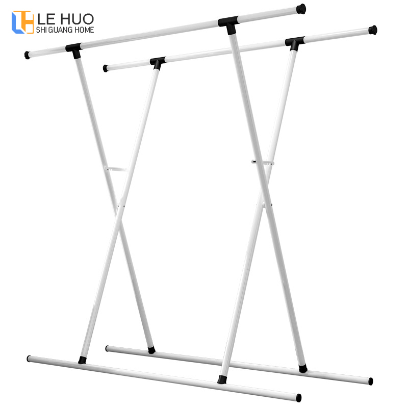 Double rod drying rack Iron art Telescopic Hangers balcony  floor drying home living room bedroom Coat rack Clothes rodDouble rod drying rack Iron art Telescopic Hangers balcony  floor drying home living room bedroom Coat rack Clothes rod