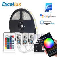 DC 12V Led Strip RGB/RGBW/RGBWW Mini WIFI LED RGB RGBW Controller Magic Home 5050 RGB Tape Flexible Ribbon Smart APP Wireless