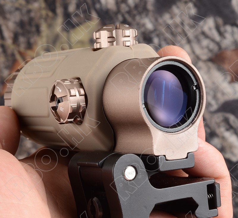 3X Magnifier lens for side flip mount fit Red dot sight scope picatinny weaver rial mount base DE M1243 tactical red dot sight scope 3x magnifier side flip mount for picatinny rial mount base rbo bk m7467