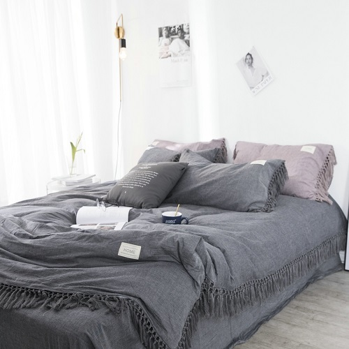 Fringe Duvet Cover Set