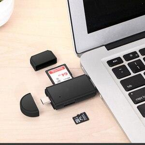 Image 4 - Универсальный 3 в 1 USB 2,0 Micro USB Type C OTG кардридер Micro SD TF кардридер внешние адаптеры для телефона компьютера планшета