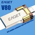 EAGET V80 USB2.0 Палка 16 ГБ 32 ГБ 64 ГБ Смартфон Пера Drive USB Flash Drive OTG Внешнее Запоминающее Микро Pendrive Памяти Stick