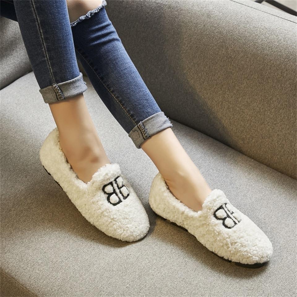 En Automne Chaudes Chaussures De Daim Confortable Femmes blanc Noir D'hiver marron Et Nouvelles 2018 Mode Plat Coton vH5wqv4