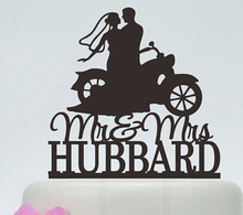 Acrylic Wedding Cake Toppers Motorbike Couples Custom Bride Groom Name And Date Engagement Bridal Shower Party