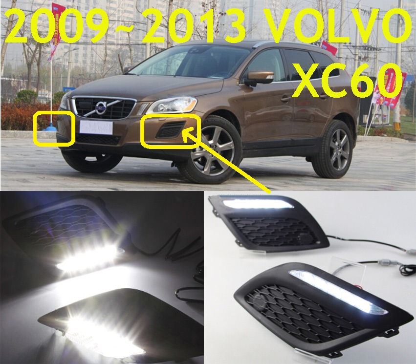 Volv XC60 daytime light 2009 2014 Free ship LED XC60 fog light 2ps set XC90 XC60
