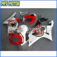 Motorcycle Part ABS Injection Fairing Kit For Suzuki GSXR 1000 2000 2001 2002 White Red A1