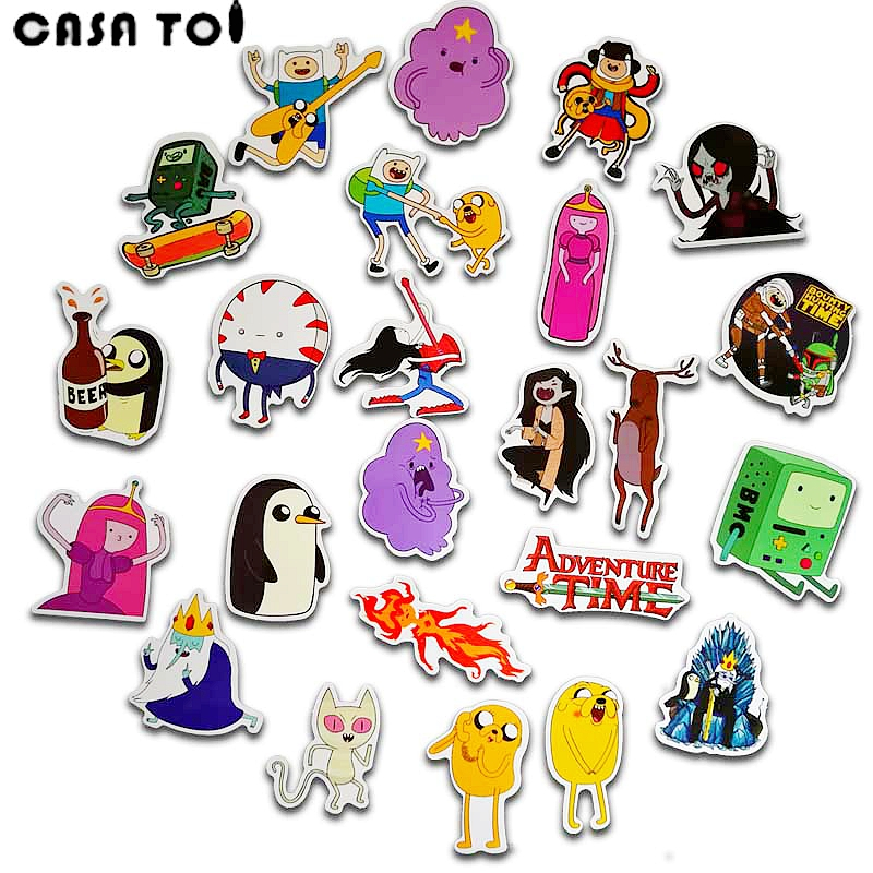 25pcs Adventure Time Sticker Wallpaper Decal Motorcycle