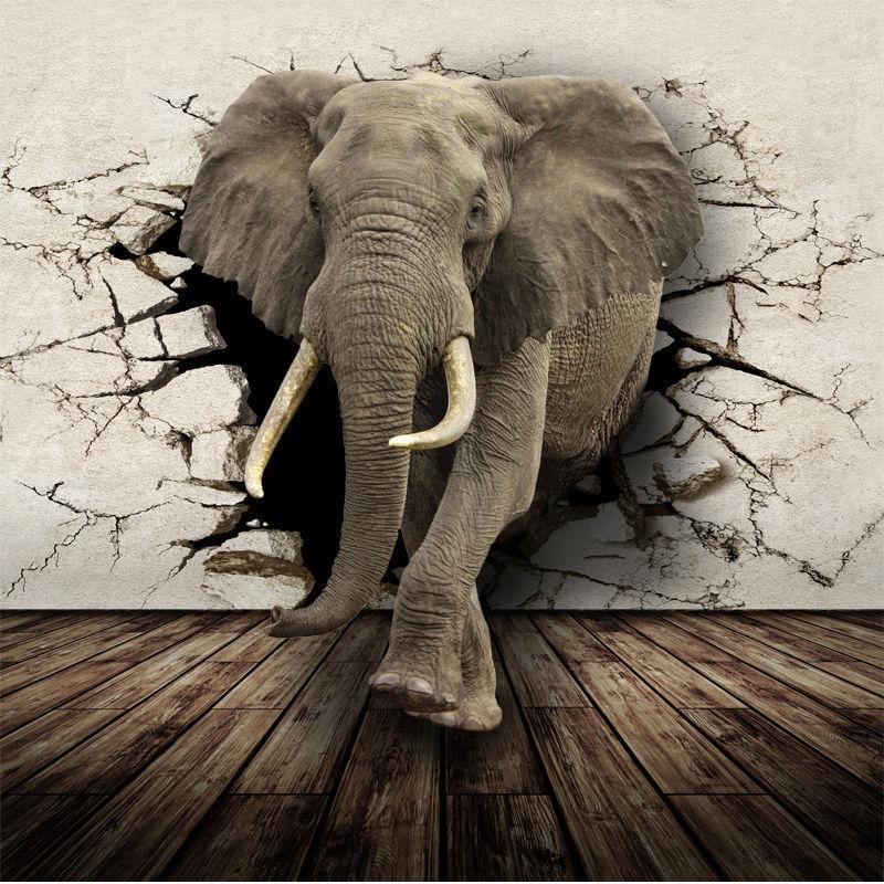 Aliexpress.com : Buy 3D Lifelike Animal Mural Wallpaper