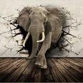 3D Realista Animal Mural Papel Pintado Personalizado Rhino/León/Elefantes No Tejido papel Pared Mural Nueva Foto Wallpaper Hoom Decoración