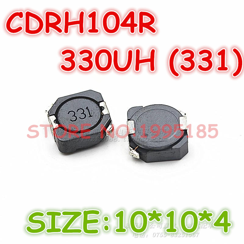 10PCS CDRH104R 22uH 220 SMD Power Shielded Inductors 10x10x4mm