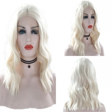 JOY&BEAUTY Short Body Wave Heat Resistant Wigs Synthetic Lace Front Wig 14 Inch