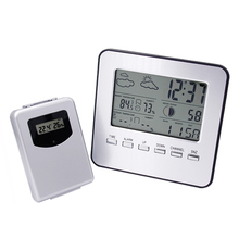 Discount! LCD Wireless Weather Station Digital Indoor/Outdoor Thermometer Hygrometer Temperature Humidity Meter Date Alarm Clock 13% off