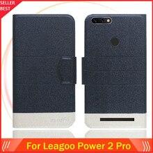 5 цветов Лидер продаж! Leagoo power 2 Pro Чехол на заказ ультратонкий кожаный эксклюзивный чехол для телефона с отделением для карт